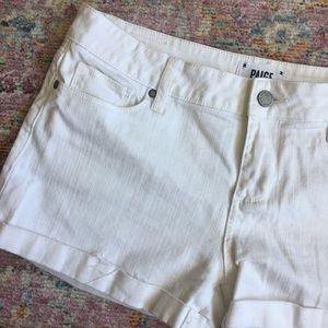 PAIGE white Denim Cuffed Shorts 29